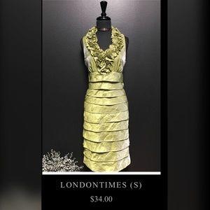 London Times Formal Lime Green Dress, US Size 4